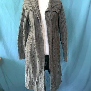 Sonoma Women's Gray Open-Front Cardigan size XL